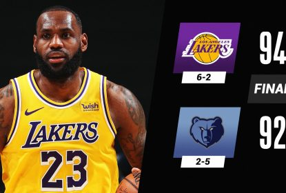 Com dificuldade, LeBron e Davis decidem e Lakers batem Grizzlies - The Playoffs