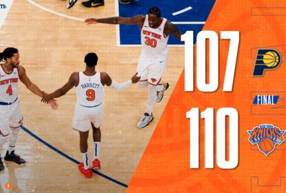 Knicks vencem Pacers em jogo equilibrado no Madison Square Garden - The Playoffs