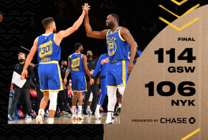 No primeiro jogo da temporada com torcida no MSG, Warriors vencem Knicks por 114 x 106 - The Playoffs