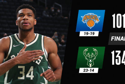 Giannis Antetokounmpo anota triplo-duplo e Bucks atropelam Knicks - The Playoffs