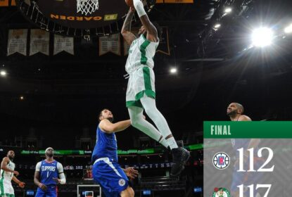 Em jogo apertado, Boston Celtics vence Los Angeles Clippers por 117 x 112 - The Playoffs