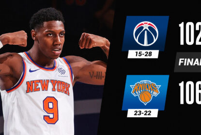 Com virada espetacular, Knicks tiram 17 pontos e vencem Wizards - The Playoffs