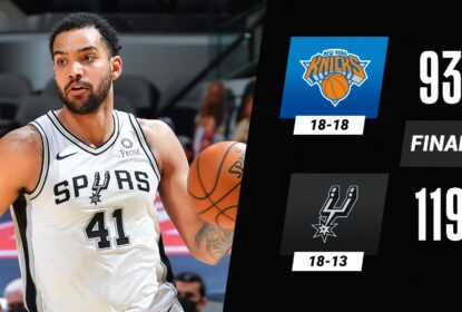 Coletivo funciona bem, Spurs se recuperam na NBA e vencem Knicks - The Playoffs