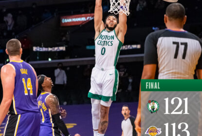 Celtics vencem Lakers e embalam 5 vitórias seguidas na temporada - The Playoffs