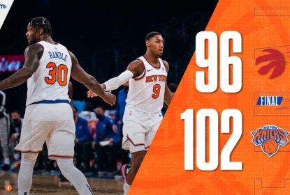 Em jogo equilibrado no final, New York Knicks supera Toronto Raptors - The Playoffs