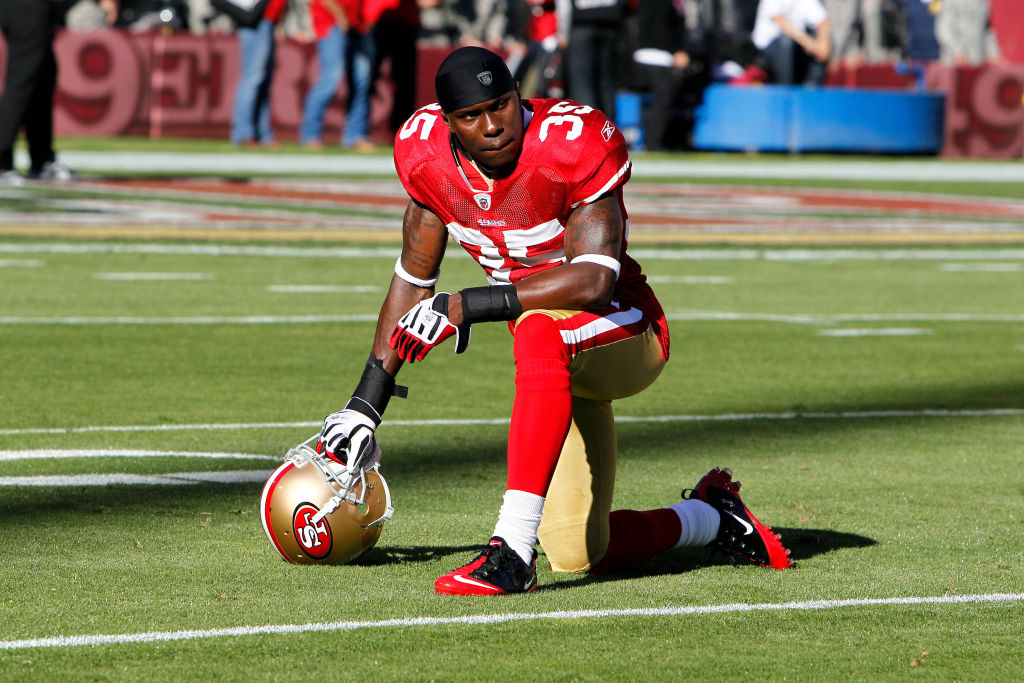 20 September 2010: San Francisco 49ers cornerback Phillip Adams #35 during the NFL regular season game between the New Orleans Saints and the San Francisco 49ers at Candlestick Park in San Francisco, CA.