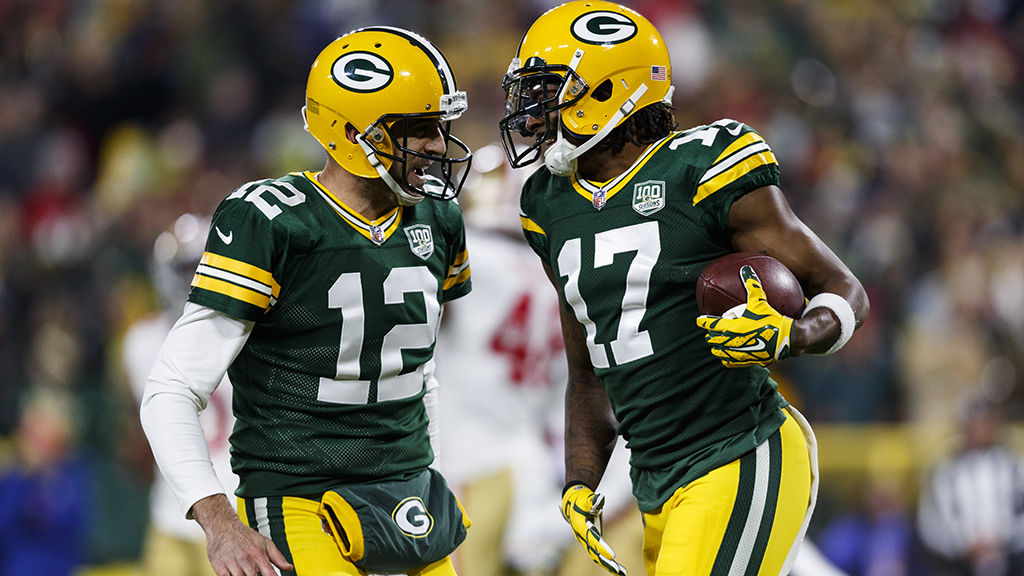 Aaron Rodgers and Davante Adams - Green Bay Packers