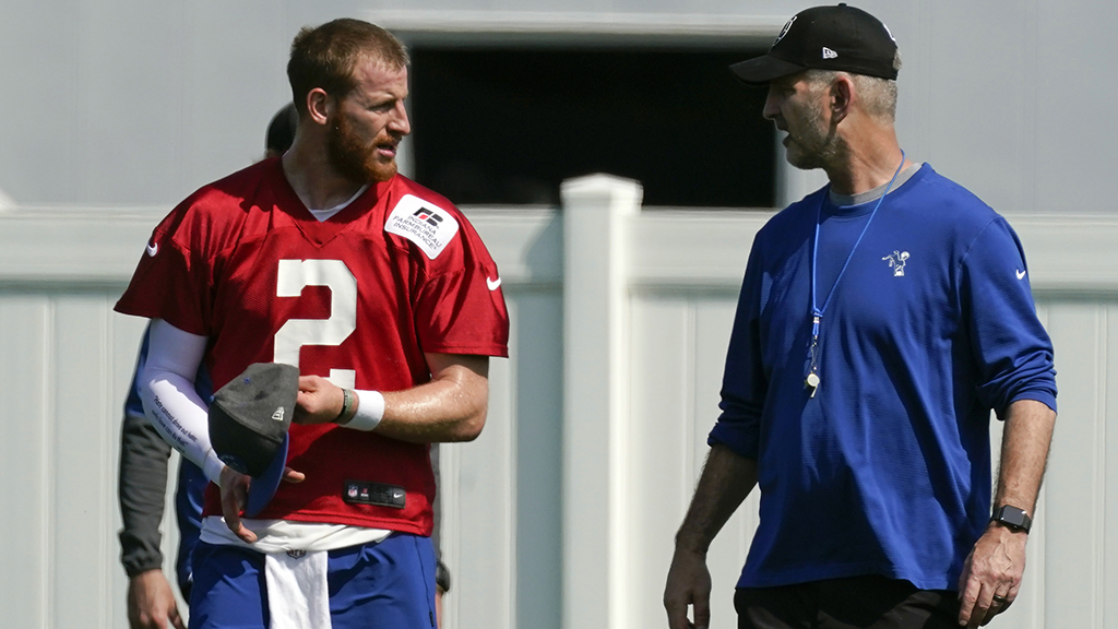Frank Reich and Carson Wentz - Indianapolis Colts
