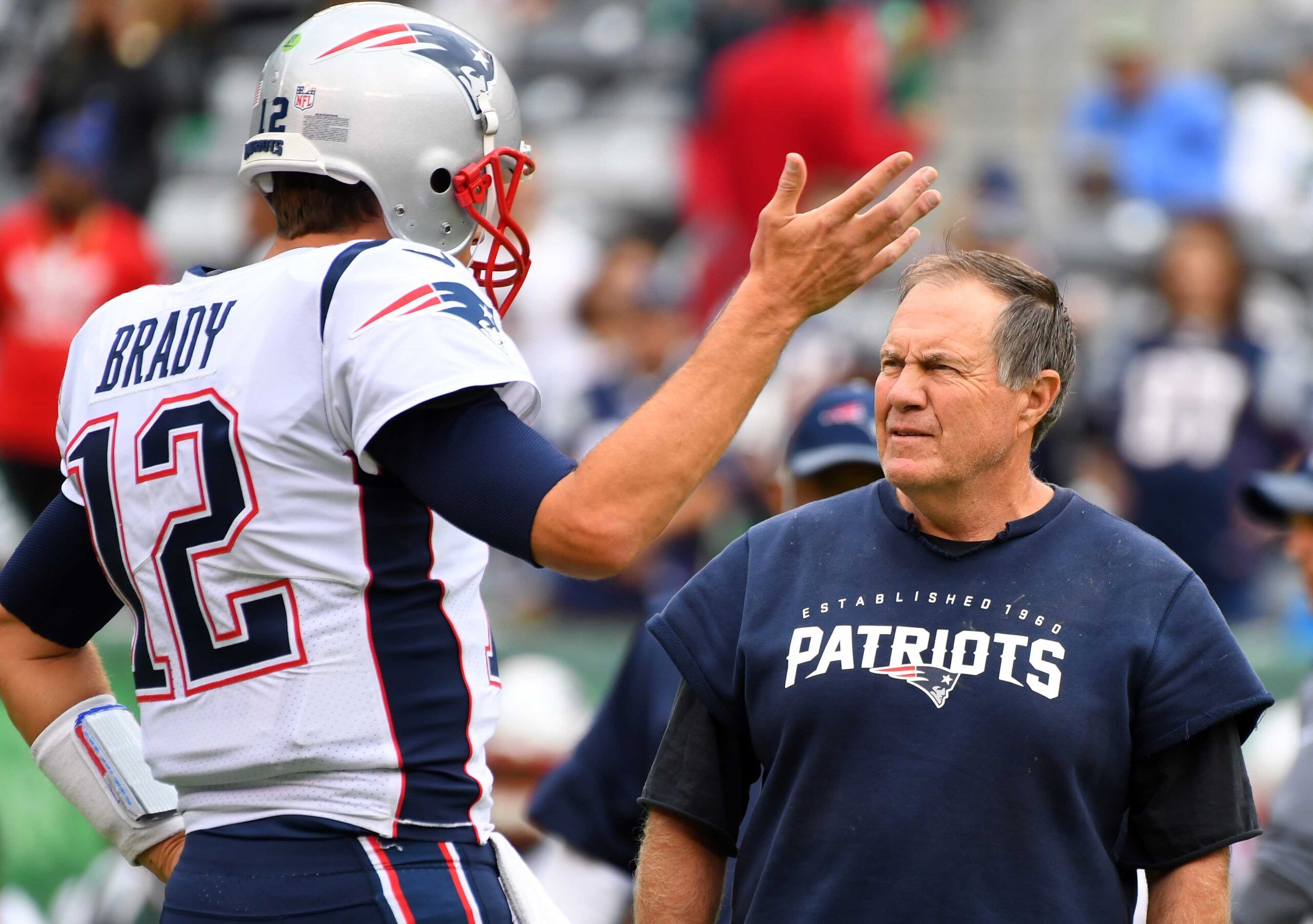 Tom Brady and Bill Belichick at the New England Patriots