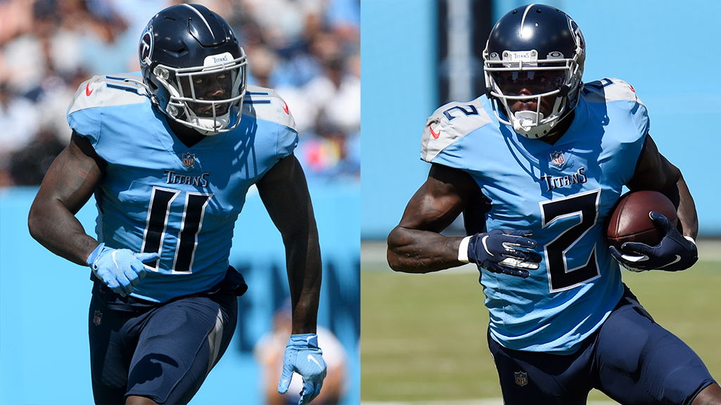 Tennessee Titans WRs A.J. Brown and Julio Jones